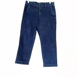 NWOT Banana Republic Cuffed Crop Jeans Blue 29/8